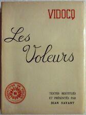 VIDOCQ - Les voleurs (Histoires de voleurs et autres criminels ...) (1957 - S.P)