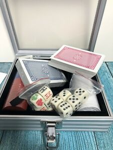 Poker Set & Case Card Chips & Dice