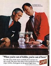 1967 SCHLITZ Beer Man With Empty Glass Vtg Print Ad When You're Out Of Schlitz