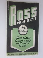1936 Ross Products catalog America's lowest price mail order house