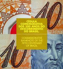 Brazil, 10 Reais, 2000, P-248 (248a), Polymer, UNC > With the folder