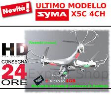 RC QUADRICOTTERO DRONE 2,4 GHZ SYMA X5C TELECAMERA HD UPGRADE VERSION LUCI NEW