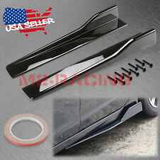 Gloss Black Universal Car Side Skirt Extension Splitters Winglet Wing Canard