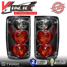 1989-1995 Toyota Pickup Truck Tail Lights Black Clear Altezza Rear Lamps - PAIR