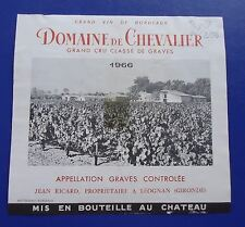wine label 1966 domaine de chevalier grand cru classe de graves