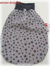 Niciart ♥ nuevo pucksack ♥ bebé saco de dormir ♥ estrellas Taupe gris ♥ algodón & Molton ♥