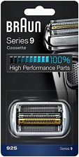 Braun 92S Series 9 Electric Shaver Replacement Foil & Cassette Cartridge, Silver