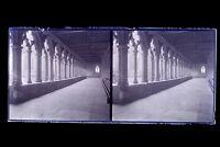 Francia Chiostro Foto Amateur Placca Da Lente Stereo Negativo Verso 1925