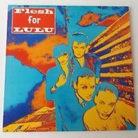 Flesh for Lulu - Self Titled - Vinyl LP + Insert UK 1st Press Indie Goth EX/EX+