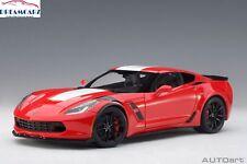AUTOart 71274 1:18 Chevrolet Corvette C7 Grand Sport - Red with White stripes