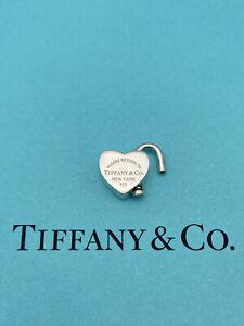 Tiffany & Co Sterling Silver Heart Lock Padlock Pendant Charm That Opens.