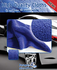 Microfibre Cloth 450gsm High Quality - Pack of 10 - 40x40cm - Royal Blue