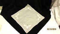 Vintage Linen Sheer Ecru Handkerchief New