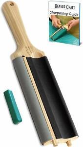 Leather Strop Sharpening Hook Knife Spoon Knife Polishing BeaverCraft OFFICIAL