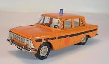 UDSSR USSR 1/43 Moskvitch 412 GAI Patrol Car orange OVP #229