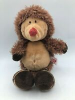 Small NICI Forest Friends Hedgehog Brown Bear Plush Kids Soft Stuffed Toy Animal