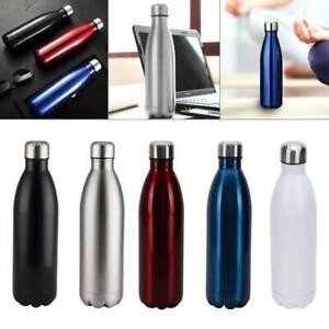 1L Edelstahl  Trinkflasche Isolierflasche Wasserflasche Thermosflasche