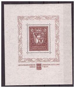 Liechtenstein: Tadelloser Block 1 sauber postfrisch, Michel: 2800 Euro