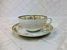 Nippon Handpainted Teacup 1911-1921 Fine China Hand painted Gold Gilded Yellow