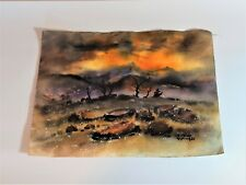 "Aquarell  ""Hillside"" Colorado  USA 1982 Willy  Hinck  Dangast  Varel  Oldenburg"