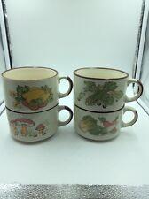Set of 4  Shell Petrol Promo vintage Soup Bowl/ mugs,Chicken,Celery ,Mushroom