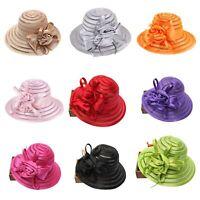 Women's Organza Church Kentucky Derby Fascinator Bridal Tea Party Wedding Hats