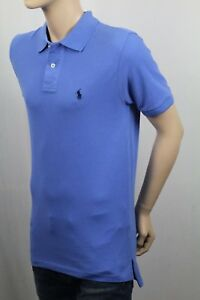 Ralph Lauren Kids Blue Mesh Short Sleeve Shirt Navy Pony NWT