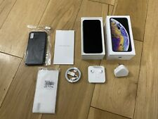Apple iPhone XS 256gb Silver Unlocked Bundled With Box & Accessories