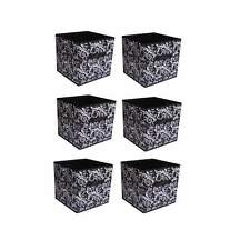 6 pcs Home Storage Box Household Organizer Fabric Cube Bins Basket Container