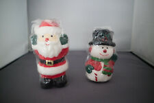Father Christmas & Snowman Novelty Candles