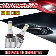 2X 9006 COB LED Headlight Conversion Kit Low Beam Power Bulbs 6500K 160W 16000LM