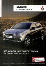 Prospekt / Brochure Mitsubishi ASX Comfort Edition 06/2014