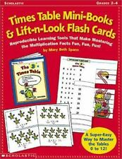 Times Table Mini-Books and Lift-N-Look Flash Cards: Reproducible Learning Tools