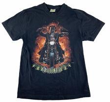 Men's Ned Kelly Outlaw Motorbike Graphic T-Shirt Gooses Australia Size L