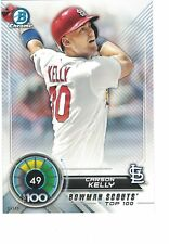 2018 Bowman Scouts' Top 100 5x7 /49 #49 Carson Kelly St. Louis Cardinals