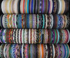 100X Nepal  Bracelet Glass Seed Bead Roll Over Hand Crochet Handmade Bracelets