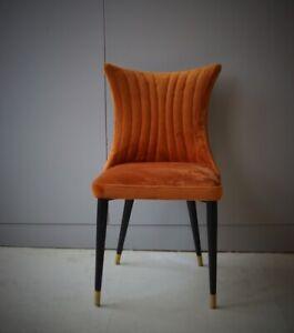 Rust Velvet Dining Chair