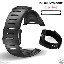 【For SUUNTO CORE SS014993000】Luxury Rubber Replacement Sports Watch Strap Band