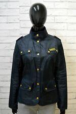 BARBOUR Trench Blu Donna Taglia M Giubbino Giacca Impermeabile Jacket Woman