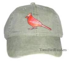 Cardinal Embroidered Cotton Cap New Bird Hat