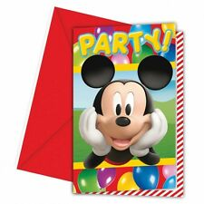6 Disney Mickey Mouse Balloons Clubhouse Party Invitations plus Envelopes