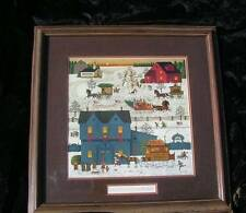"Charles Wysocki ""A Warm Christmas Love"" Signed 3 times! & numbered Framed/Matted"