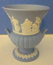 Wedgwood Jasper Ware Blue Urn Shaped Vase