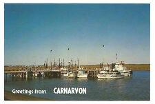 WA - c1970s POSTCARD - FISHING BOAT HARBOUR & JETTY, CARNARVON, WA