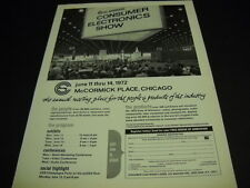 CONSUMER ELECTRONICS SHOW McCormick Place in Chicago 1972 PROMO DISPLAY AD mint
