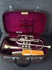 More details for lark vintage chinese cornet m4045 in original velvet lined leather case