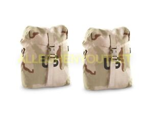 2 NEW DCU DESERT SUSTAINMENT POUCH DCU MOLLE 2 USA GI ISSUE USA SDS