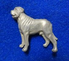 C@L 3-Dimensional English Mastiff Dog Breed Pewter Color Heavy Metal Lapel Pin