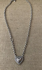 """Brighton Puffed Heart Necklace 16-18"""""""