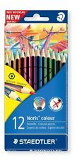 12 x Staedtler Wopex Noris Colouring Pencils - Assorted Colours, Hexagonal Shape